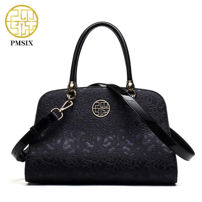 Pmsix New Autumn Winter Vintage Designer Handbag Embossed Flower Tote Bags Crossbody Shoulder Bag Brand <font><b>China</b></font> Bag P140015