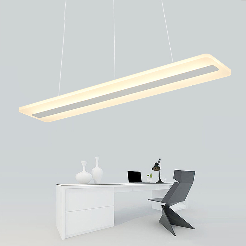 ZX Modern LED Acryl Office Pendant Lamp Simple Dining Room Lights Office Building Chandeliers Living Room Study Lamp LED Chip a1 master bedroom living room lamp crystal pendant lights dining room lamp european style dual use fashion pendant lamps