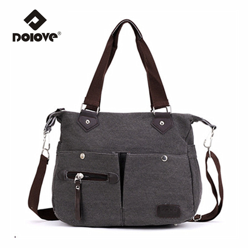 Korean Version Nnew Package Canvas Shoulder Travel Bag Ladies Portable Ooblique Cross Handbag