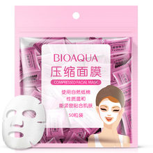 BIOAQUA Compression Mask Nonwoven Fabric Mask Paper 50 Pieces of Pro-thin Skin Care DIY Mask Disposable Mask Face Care Tools(China)