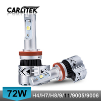 72W 12000LM Set Auto H7 LED Headlight Car Light Bulbs Kit Hi Lo Beam High Power