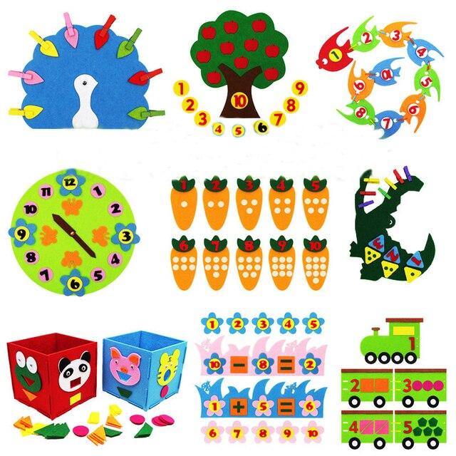Enseñanza de Kindergarten manual Diy tejido de tela de Aprendizaje Temprano educación juguetes Montessori enseñanza del SIDA juguetes de matemáticas