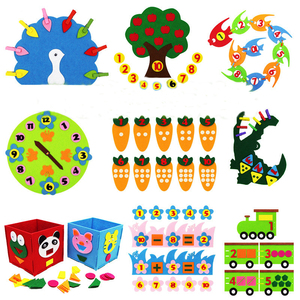Teaching Kindergarten Manual Diy Weave Cloth Early Learning Education Baby Kids Toys Montessori Teaching Aids Math Toys(China)