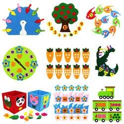 Обучение детский сад Руководство Diy ткань Раннее Обучение Образование игрушки Монтессори учебные пособия Математические Игрушки
