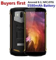 Оригинал Blackview BV5800 5,5 HD 18:9 смартфон IP68 Водонепроницаемый 13.0MP двойной сзади Камера NFC Android 8,1 5580 мАч мобильного телефона