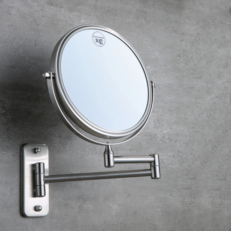 8 Inch Brass Bathroom Mirror 3X 1X Magnification Cosmetic Mirror High  Definition Two Sided Rotatable