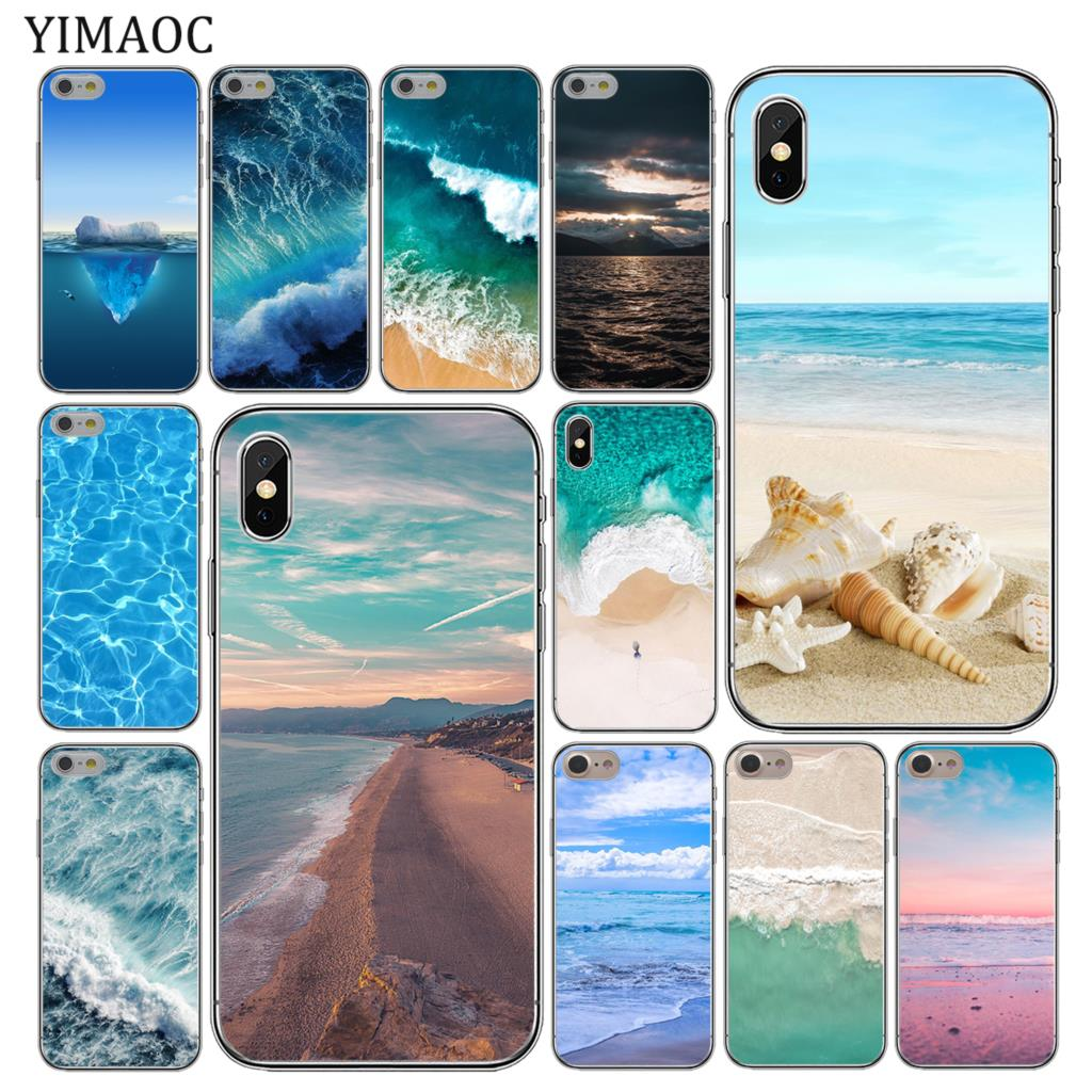 YIMAOC Sea Beach spray Soft Silicone Cover Case for Apple iPhone XS Max XR X 6 6S 7 8 Plus 5 5S SE 10 TPU Phone Cases