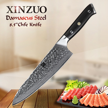 XINZUO 8.5-in Chef Knife Damascus Steel Blade Knives Ebony Handle 67 Layers 10cr15CoMoV Core Kitchen Beauty Gifts