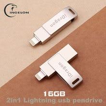 Multi i-flash Drive usb flash drive de 16 gb pendrive usb 3.0 rayo de memoria flash del palillo para el iphone ipad ipod del teléfono móvil unidad