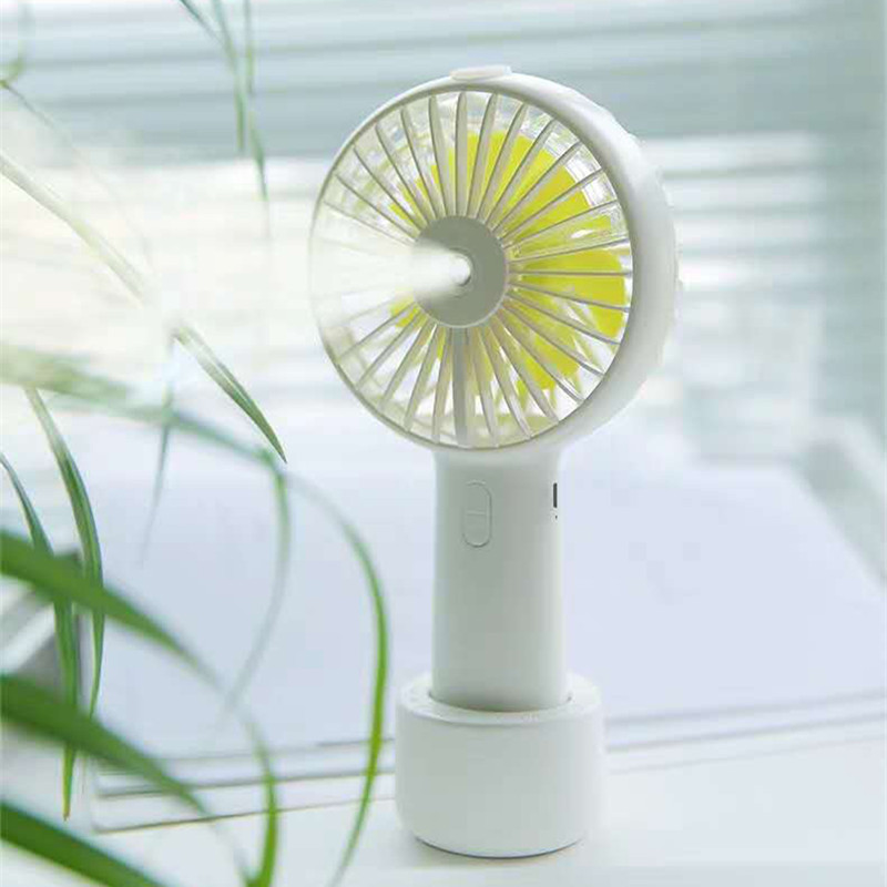 2000mAh Portable Water Spray Mist Fan Electric USB Rechargeable Handheld Mini Fan Cooling Air Conditioner Humidifier For Outdoor
