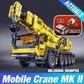 LEPIN 20004 2606Pcs Technic Motor Power Mobile Crane Mk II Model Building Kits  Blocks Toy Bricks Christmas Gift 42009