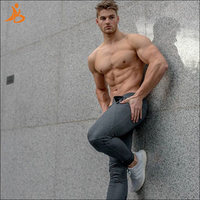 YD High Elastic Running Pants Men Compression Tight Sportswear Gym Training Sports Trousers Leggings Quick Dry