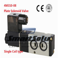 free-shippingair-operated-solenoid-valve-plate-mounting-4m310-08-port-14-inch-110v-ac-5-way-control-valve-pneumatic-single-coil