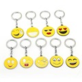 Smiling face Keychain Lovely Smile Key Ring Holder Chaveiro Car Key Chain Pendant Expression Anime Jewelry Souvenir YS11918