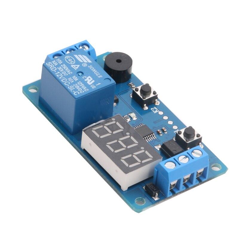 DC 12V LED Display Digital Delay Timer Control Switch Module PLC Automation New om zfv sc90 140605 industry industrial use automation plc module p v