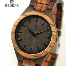 REDEAR913 all bamboo material luxury men's watch, watch of wrist of high-end brands, fashion quartz watch, archaize casual watch