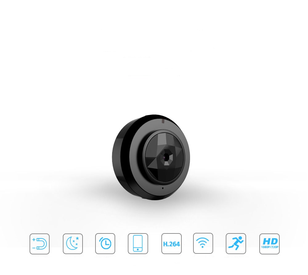 Mini Camera Multi-purpose recording video WIFI IP connection control and phone HD 720P video resolution and motion detection ...