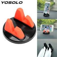 YOSOLO Mobile Phone Stand Holder Navigation Frame Car Holder 360 Degree Rotation Mount Bracket Glasses Holder Car Accessories