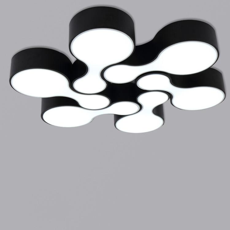 Fashion Art Design Kreative Minimalistischen Deckenleuchten Schwarz Und Weiss Klassischen Bowling LED Wohnzimmer Schlafzimmer Dec