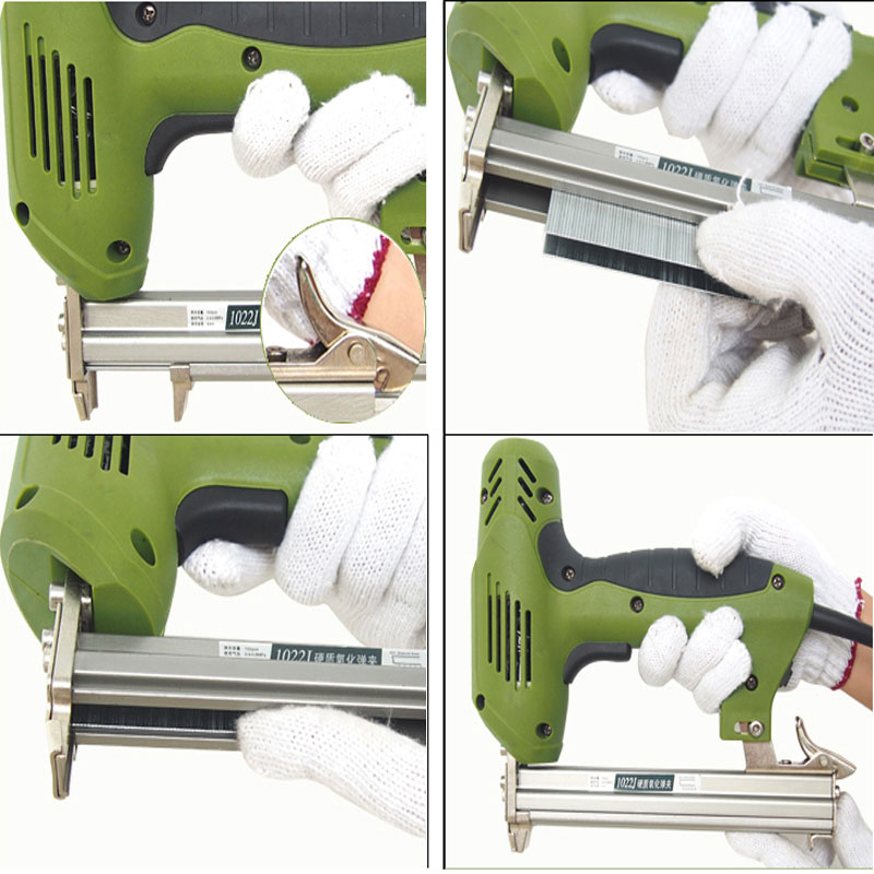 220V 1800w F1022 Electric Stapler Gun Nail Gun Nailer Tools Framing ...