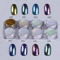 1g 1 Camaleón Caja de Polvo Del Polvo de Uñas Nail Art Glitter Gorgeous arte Cromo Pigmento Del Brillo Del Clavo de DIY Decoraciones Del Arte Del Clavo