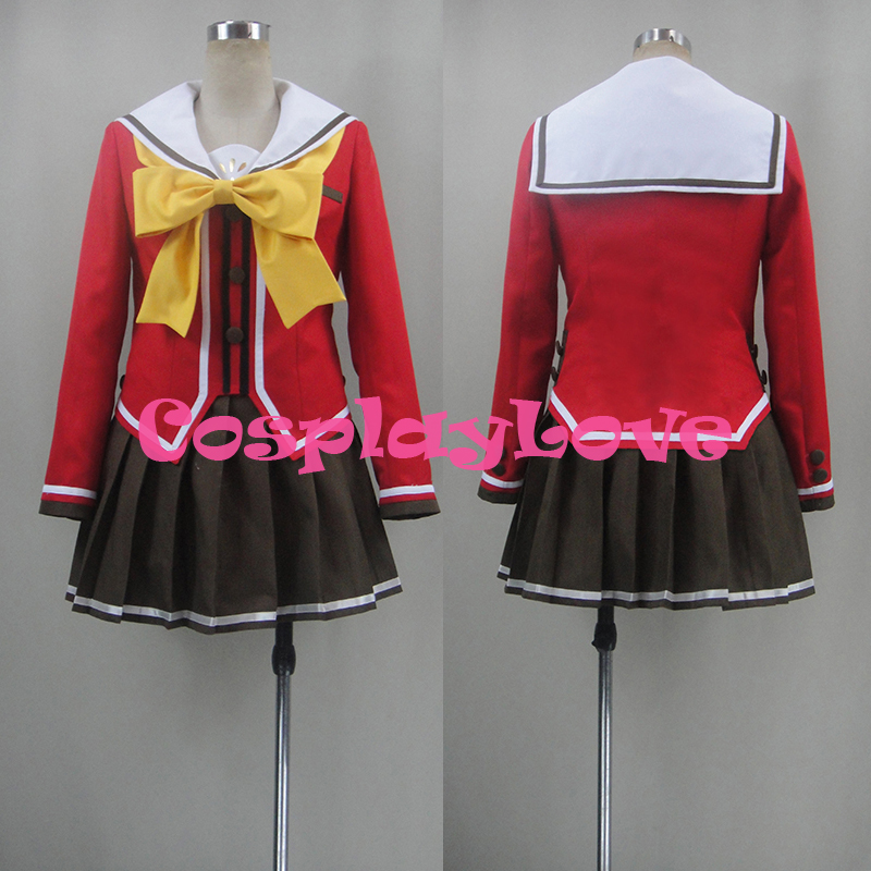 Anime Costumes Women's Costumes New Custom Made Japanese Anime Charlotte Nao Tomori/yusa Nishimori Hoshinoumi Academy School Uniform Cosplay Costume Cosplaylove