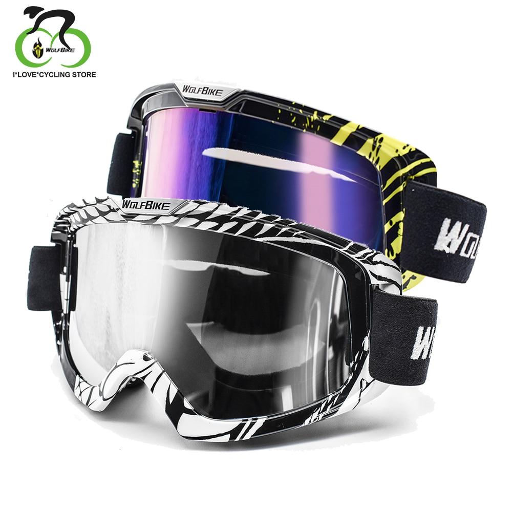 WOLFBIKE Snowboarding Windproof Glasses Outdoor Ski Goggles Dustproof Snow Men Women Motocross Goggles Mountain Skiing Eyewear