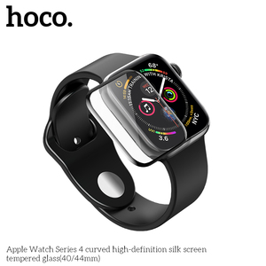 Image 3 - HOCO 9H 3D Curved Full Coverage Tempered Glass Screen Film For Apple Watch iWatch Series 5 Series 4 40mm 44mm Screen Protector