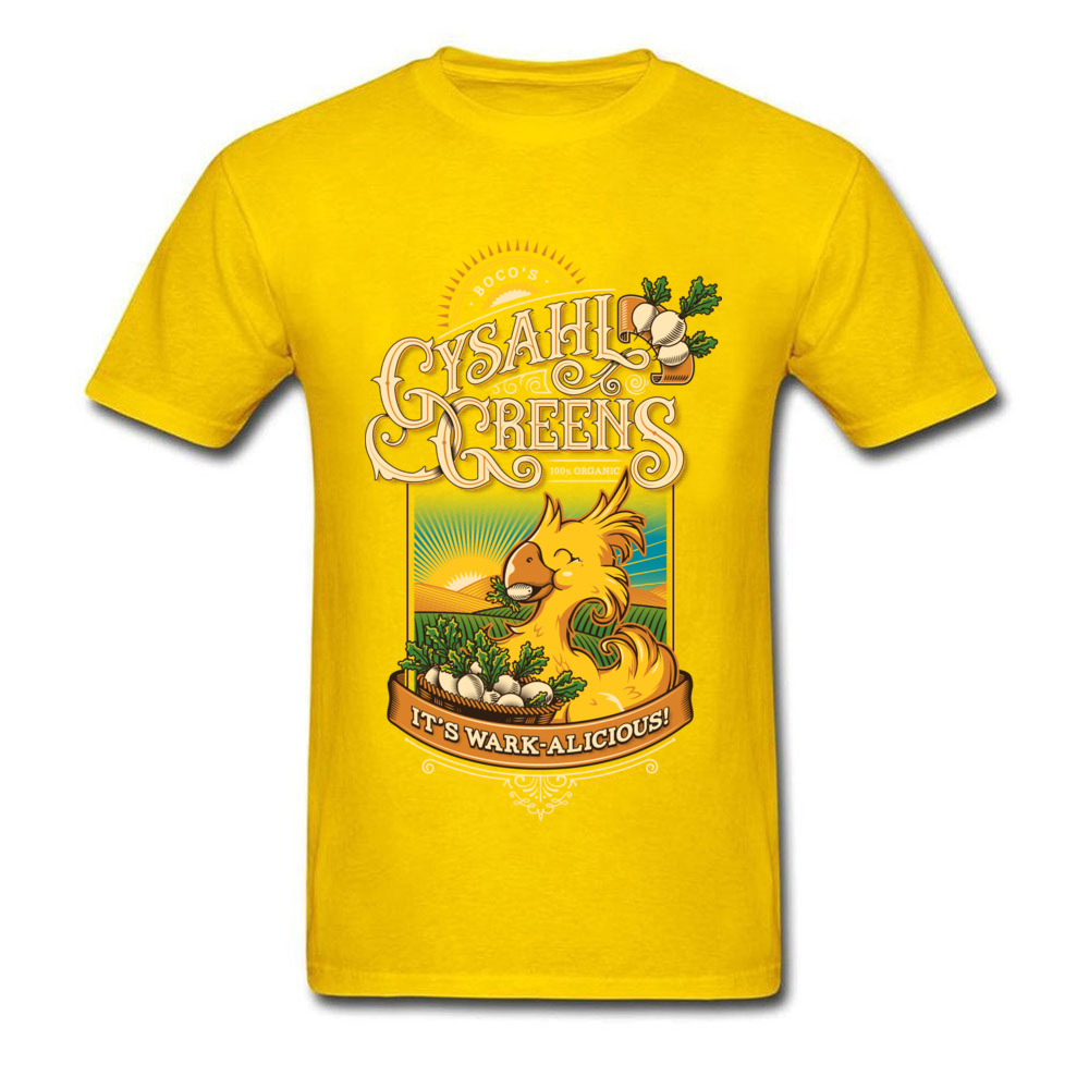 Young Funny Printed On Tees Round Neck NEW YEAR DAY Pure Cotton T-Shirt Cool Short Sleeve Wark alicious Tops T Shirt Wark alicious yellow