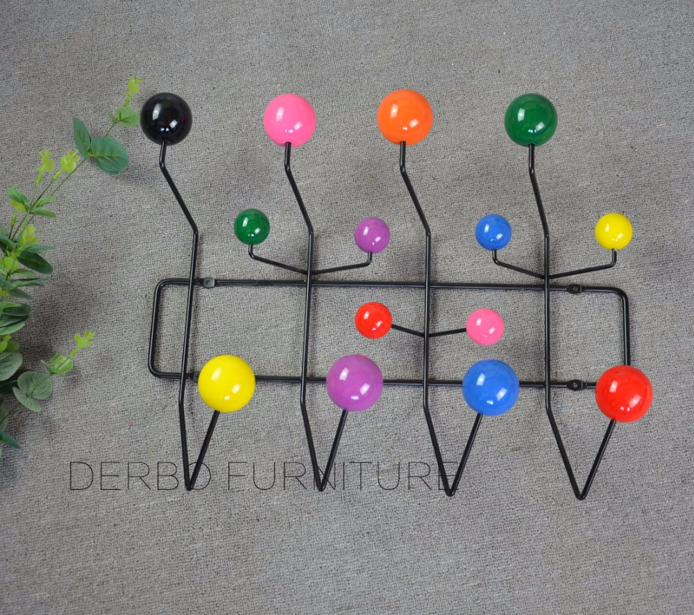 Modern Design Wall Mounted Multi Candy Color Metal Wood Hang It All Rack Coat Rack Hook Coat Hangers Ball Coat Hanger It All Storage Holders Racks Aliexpress