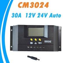 ШИМ 30А Панели Солнечных Батарей Контроллер Регулятор Зарядки Предохранения От Батареи 12 В 24 В Автоматический Переключатель для PV Системы