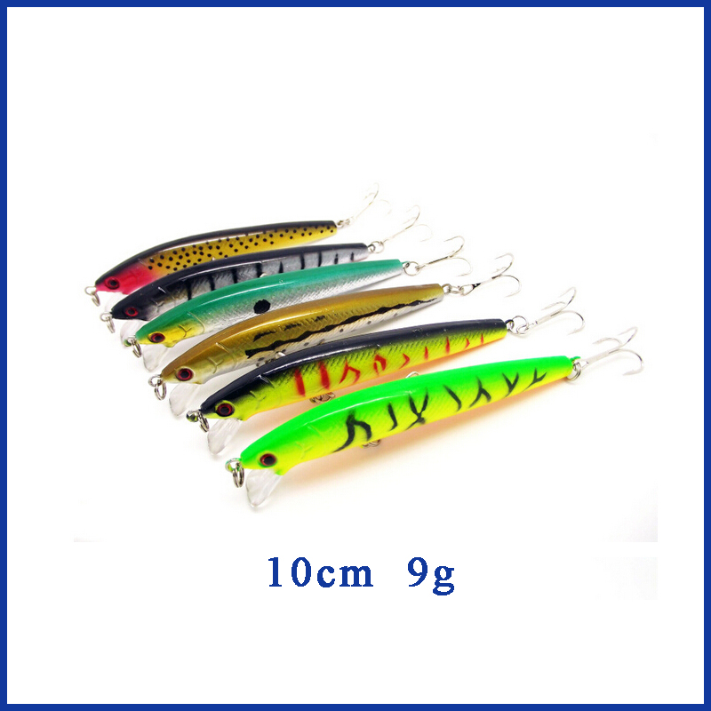 5st Fiske Lure Minnow Mixed Pack Hård bete Minnow Lure Set Larser Surface Lure