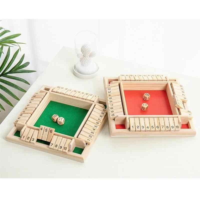 Cztery jednostronne grach flop cyfrowy drewniany gra planszowa zabawa rodzina rodzic-dziecko gra Party podróży przedszkole zabawki edukacyjne