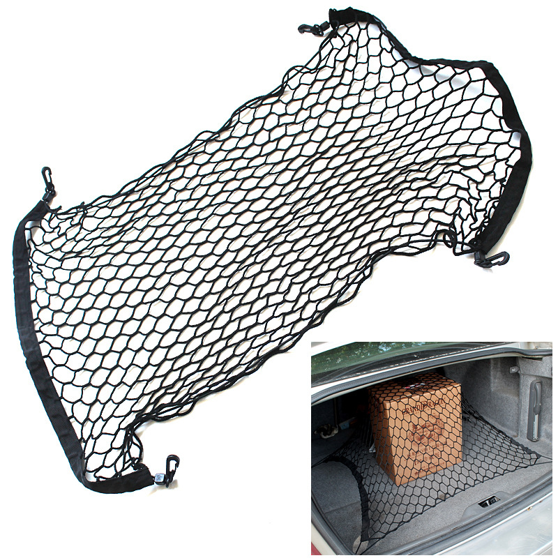 For Bmw E46 E90 E39 E60 E36 F10 F30 X3 X1 X5 E53 E70 Auto Care Car Trunk Luggage Storage Cargo Organiser Nylon Elastic Mesh Net