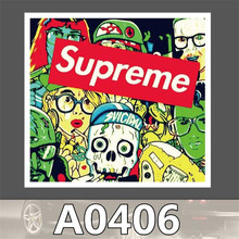 A0406 Anime Punk Cool Sticker for Car Laptop Luggage Fridge Skateboard Graffiti Notebook Scrapbook Bicycle Stickers Decal Toy