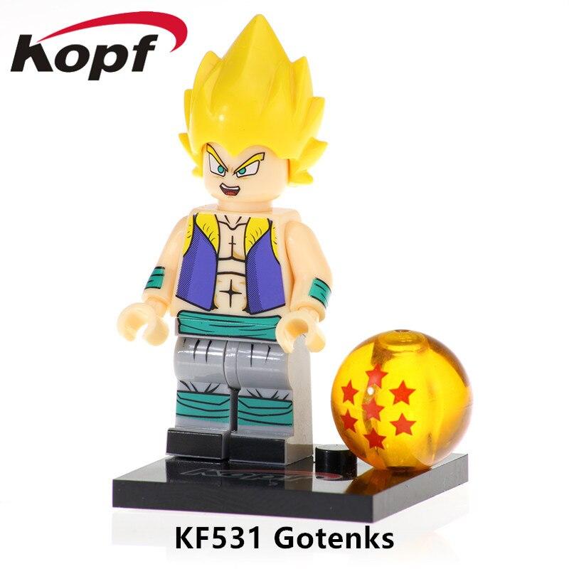Intelligent Kf531 Building Blocks Gargon Ball Z Figures Gotenks Vogeta Black Goku Rose Golden Frezer Action Bricks Gift For Children Toys To Adopt Advanced Technology Model Building
