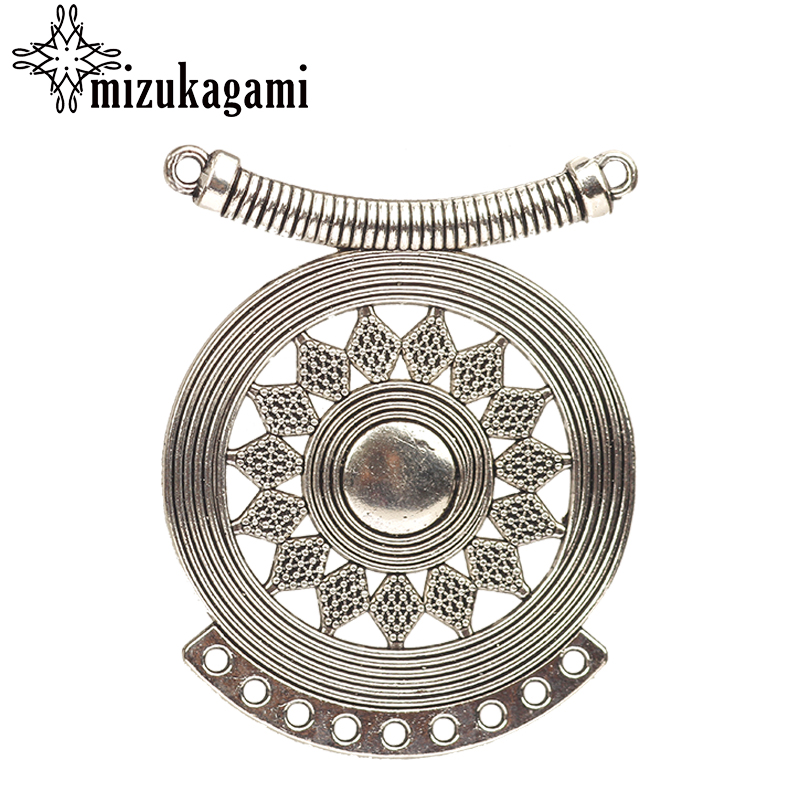 4pcs-2 loop silver Moon charm connector,bohemian earring connector