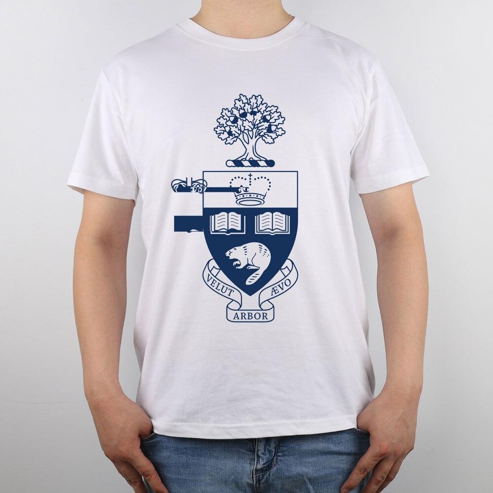 Design t shirt universiti - University Of Toronto T Shirt Top Pure Cotton Men T Shirt New Design High Quality In T Shirts From Men S Clothing Accessories On Aliexpress Com Alibaba