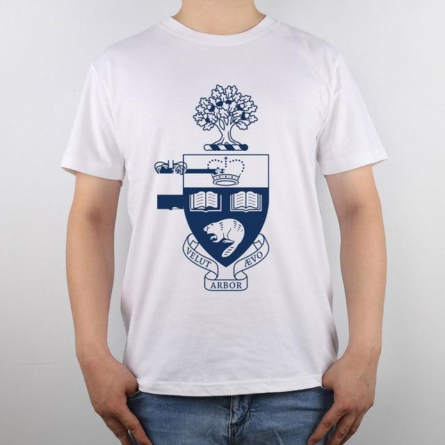 ef0ea9d5 University of Toronto T-shirt Top Pure Cotton Men T shirt New Design High  Quality