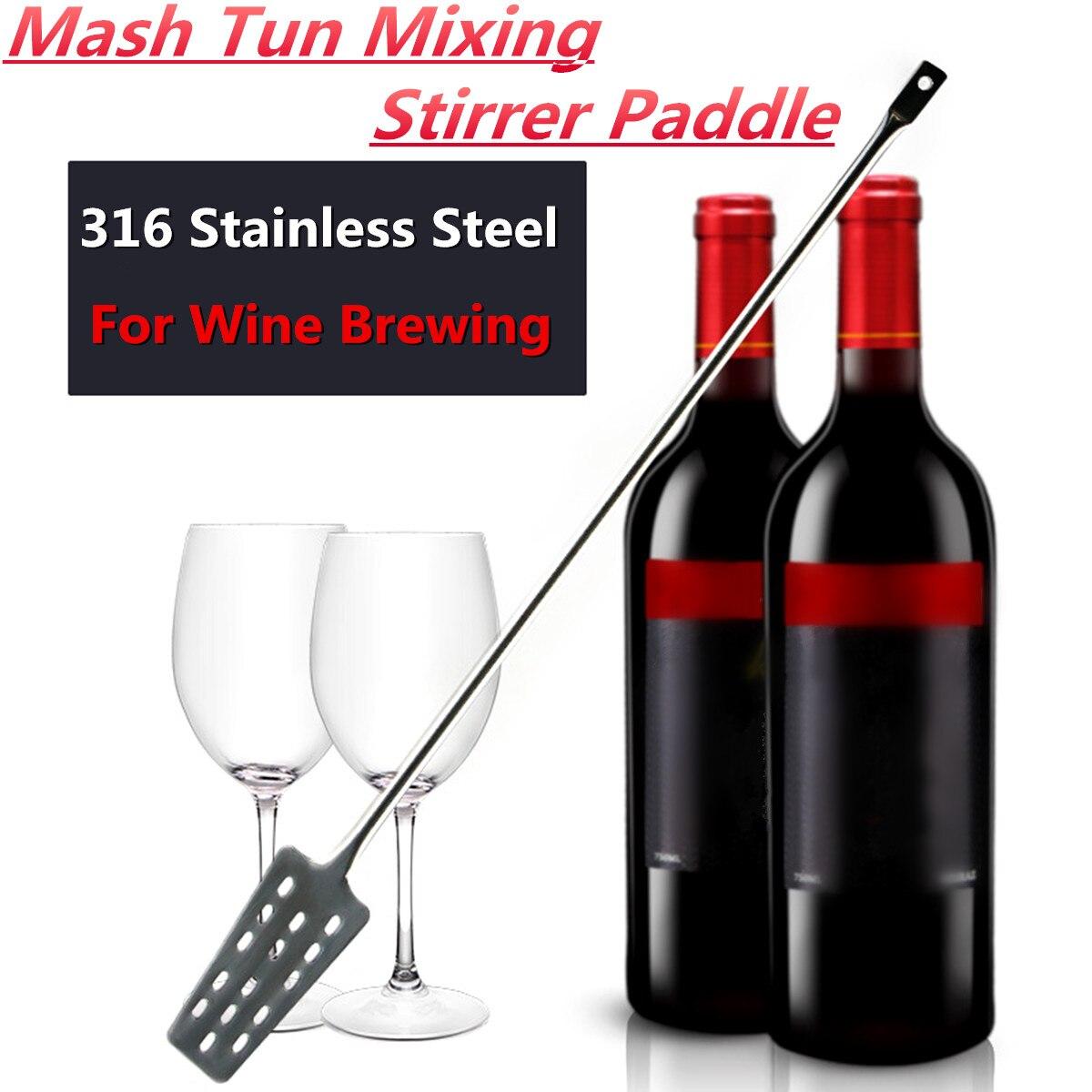 Mash Tun Agitateur De Mélange Paddle 304 Acier Inoxydable Avec 15 Trous Pour Home Brew Miroir Poli Élégant Ssed dans le Vin en remuant