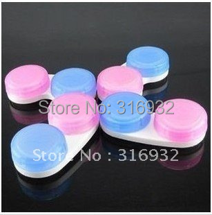 New Fashion simpleness style contact lenses case/lens Companion box  50pcs/lot