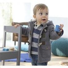 En 2016 Le Nouveau Garçon Veste D'hiver Manteau Couleur Manteau manteau Épais Coton Habit de Neige 2 Enfants Enfants de Porter Des Vêtements Avec Turbans