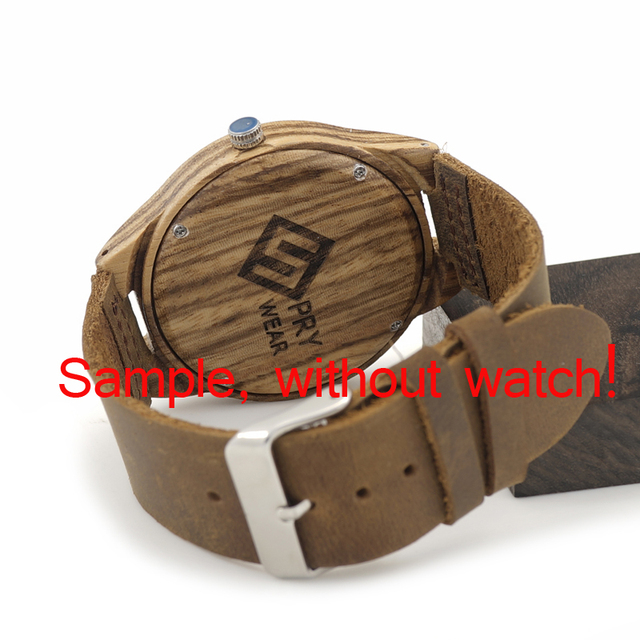 Wooden Watch Personalize Creative Logo Design