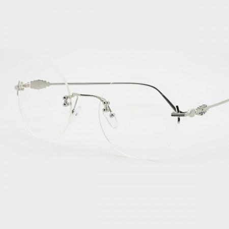 3e351768a3 Moda Unisex ligero sin montura de aumento cristal lentes claras gafas de  lectura caja 1.50
