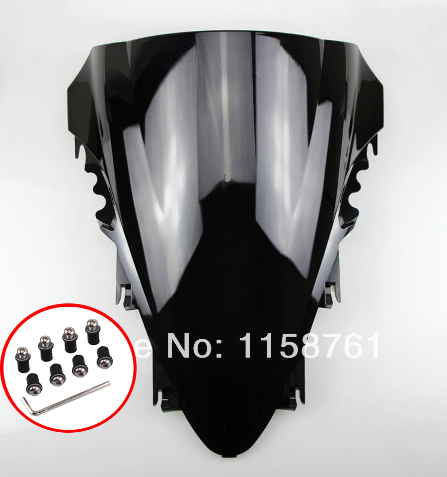 Black Smoked Windscreen Windshield For Yamaha YZF <font><b>R1</b></font> <font><b>2007</b></font> 2008 free shipping image