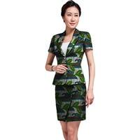 Women Print Personal Tailor Skirts Blazers Set Fashion Pattern Ladies Dashiki Clothes For Wedding Suit Set
