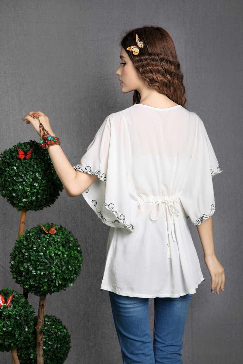 1822deda13156 ... 2019 Hot Sale vintage 70s mexican Ethnic Floral EMBROIDERED BOHO Hippie  blouses   shirt Women Clothing ...