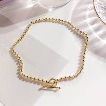 Personality Metal Beads Chain Choker Necklace Women 2019 Fashion Jewelry Gold and Silver Color Statement Collares