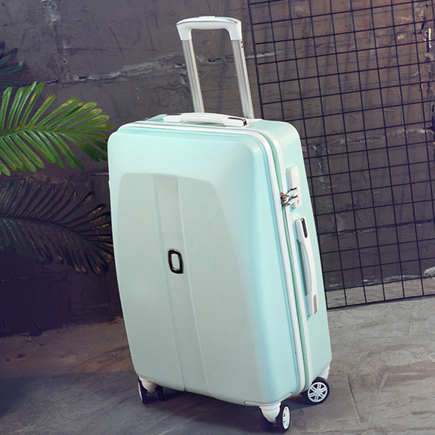New Arrival!22inches abs hardside case travel luggage bag on universal wheels,men/women trolley luggage,green luggage