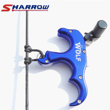 Sharrow 1 Piece 3 Finger Grip Compound Bow Arrow Release Tool Archery Accessory for Hunting Shooting